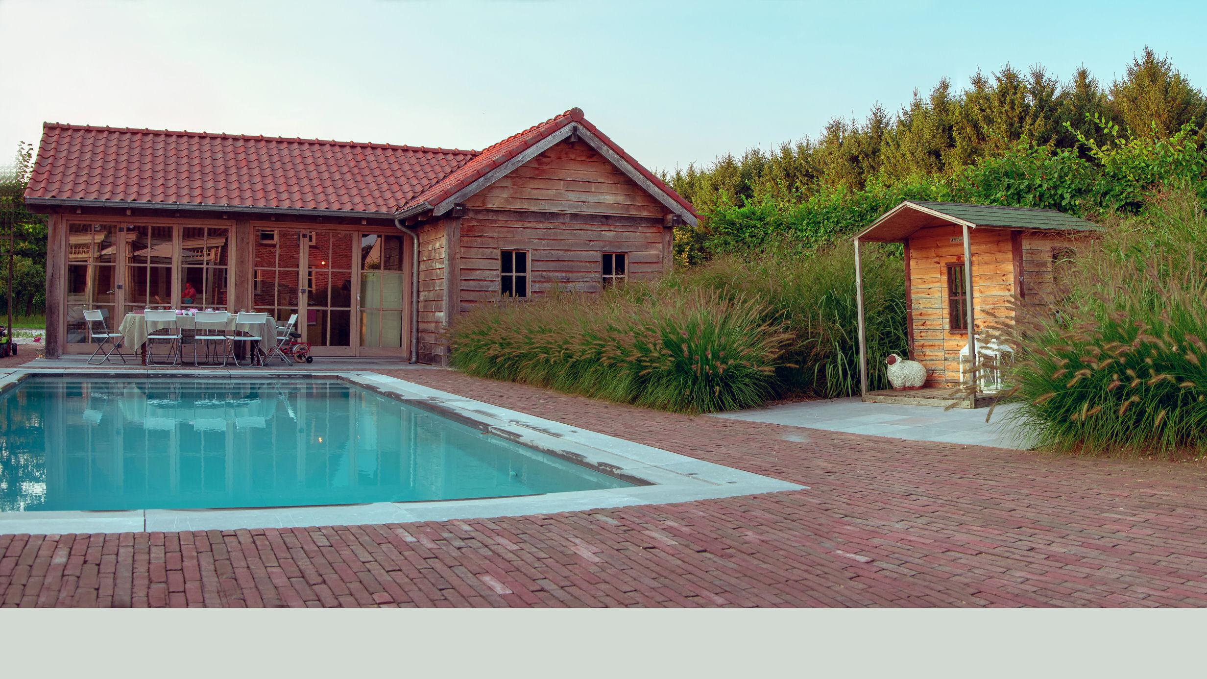 tuinontwerp, tuinaanleg, zwembad, poolhouse, tuinaannemer